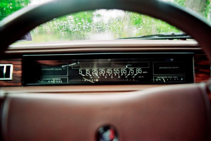 Car speedometer 1980s